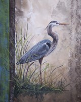 In The Reeds - Blue Heron Fine Art Print