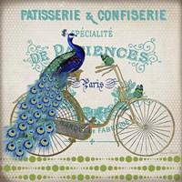 Peacock On Bicylce - E Fine Art Print