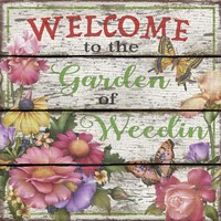 Country Garden Sign - E Fine Art Print