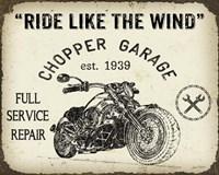 Vintage Motorcycle Mancave - D Fine Art Print