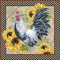 Country Time Rooster - C Fine Art Print