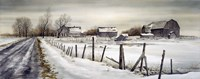 A Long Winter Road Fine Art Print