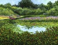 Monets Boat Fine Art Print