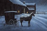 Upon a Winter Night Fine Art Print