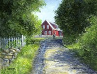 Another Red House Fine Art Print