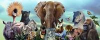 Animal Collage 4 Fine Art Print