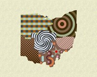 Ohio State Map Fine Art Print