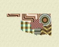Oklahoma State Map Fine Art Print