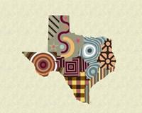 Texas State Map Fine Art Print