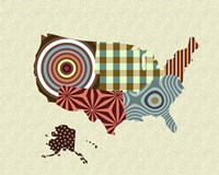 USA Map Fine Art Print