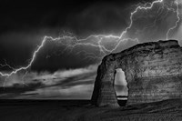 BW Lightning at MR Fine Art Print