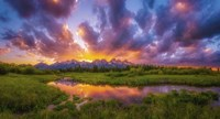 Grand Sunset in the Tetons Fine Art Print