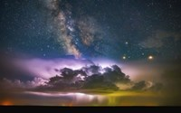 Milky Way Monsoon Print Fine Art Print