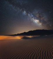 Milky Way over Mesquite Dunes Fine Art Print