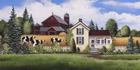 House, Barn & Cows Fine Art Print