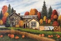 Pumpkins Fall Quilts Fine Art Print