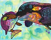 Love as large as a whale Fine Art Print