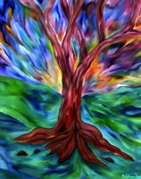 Chromatic Tree Fine Art Print