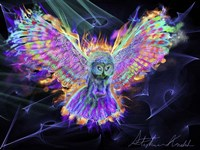 Electric Owl 2 Fine Art Print