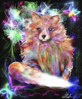 Galaxy Baby Fox Fine Art Print