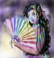 Geisha Woman Fine Art Print