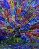 Rainbow Peacock Fine Art Print