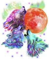 Three Wolves Fine Art Print