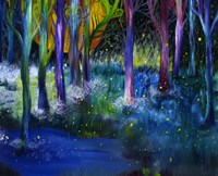Fireflies Forest Fine Art Print