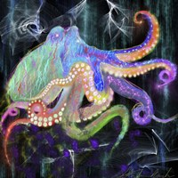 Electric Octopus Fine Art Print