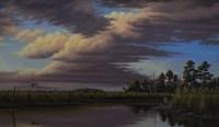 Sunset On Wicomico Creek Fine Art Print