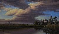 Sunset On Wicomico Creek Fine Art Print