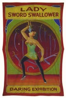 Lady Sword Swallower Fine Art Print
