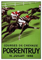 Laubi Hugo Courses Chevaux Porrentruy Year-1946 Fine Art Print