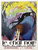 Le Chat Noir by Henri Desbarbieux, 1922 Fine Art Print