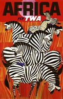 Africa Fly TWA Fine Art Print