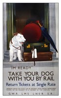 Take Your Dog With You By Rail Fine Art Print