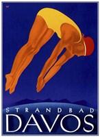 Strandbad Davos Fine Art Print