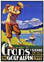 Crans Golf Alpin Fine Art Print