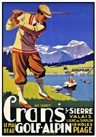 Crans Golf Alpin Fine Art Print