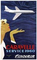 Caravelle Service 1960 Finnair Fine Art Print