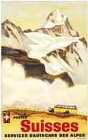 Postes Suisses Fine Art Print