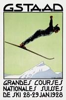 Gstaad Grandes Courses 1928 Fine Art Print