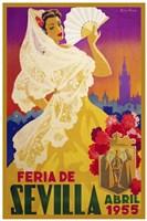 Feria De Sevilla 1955 Fine Art Print