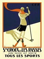Ste. Croix et Les Rasses Fine Art Print