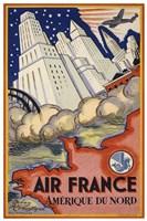 Air France Amerique du Nord Fine Art Print