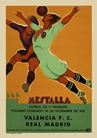 Valencia vs Real Madrid 1931 Fine Art Print