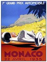 Prix Automobile Monaco 1935 Fine Art Print