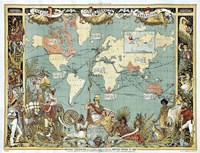 British Empire In 1886 Fine Art Print