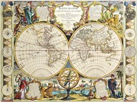 French Map Of The World 1755 Fine Art Print