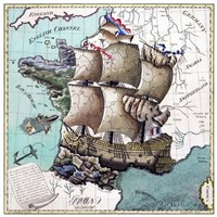 Map Of France As A Ship -1796 Fine Art Print